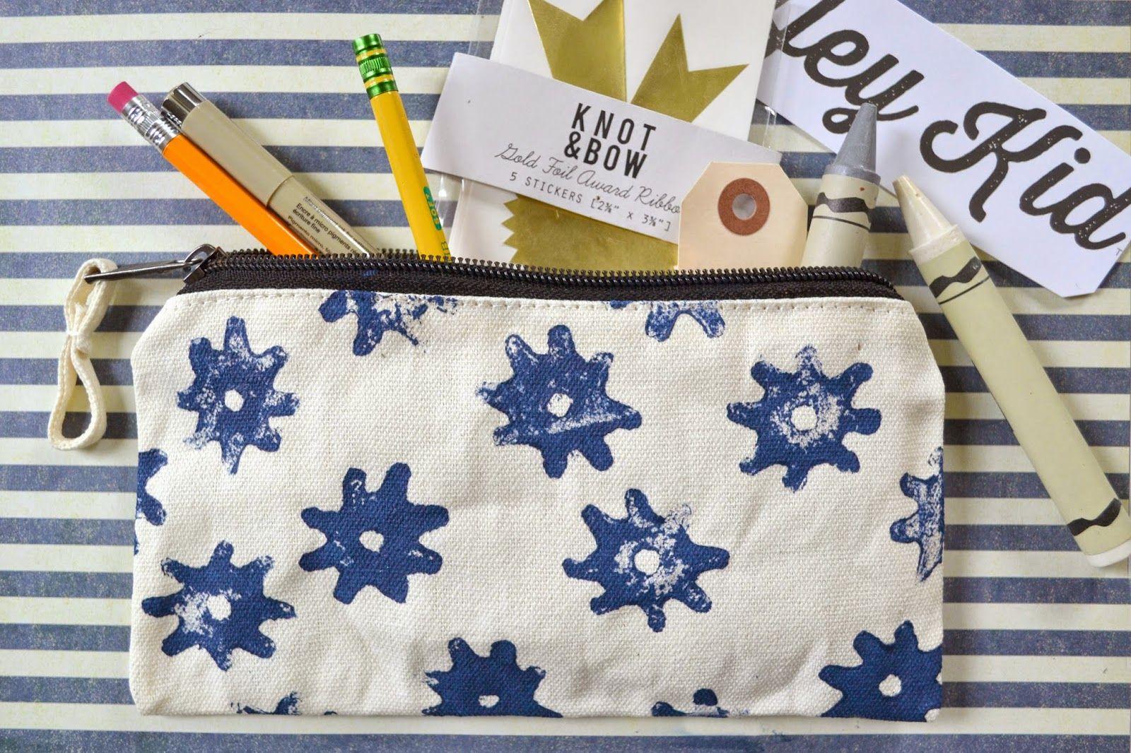 Attic lace stamp it personalized pencil case