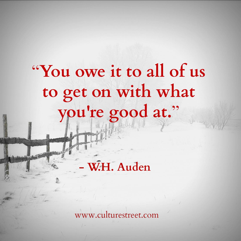 Auden Quotes W