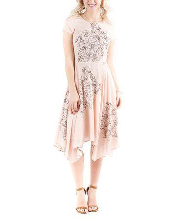 9cb543fa69a Look at this  zulilyfind! Line Flower Evening Sun Dress  zulilyfinds ...