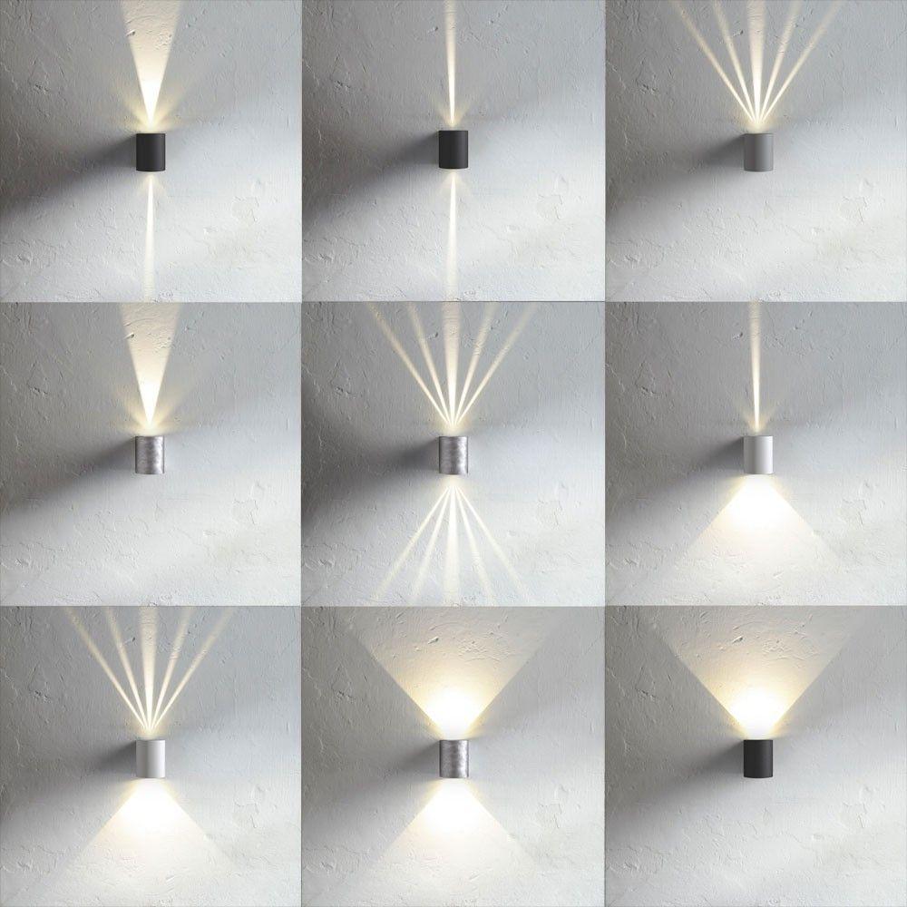Baleno Quadi Led Wand Aussenleuchte Up Down Schwarz 42974 Wandleuchte Fassadenbeleuchtung Wandlampe