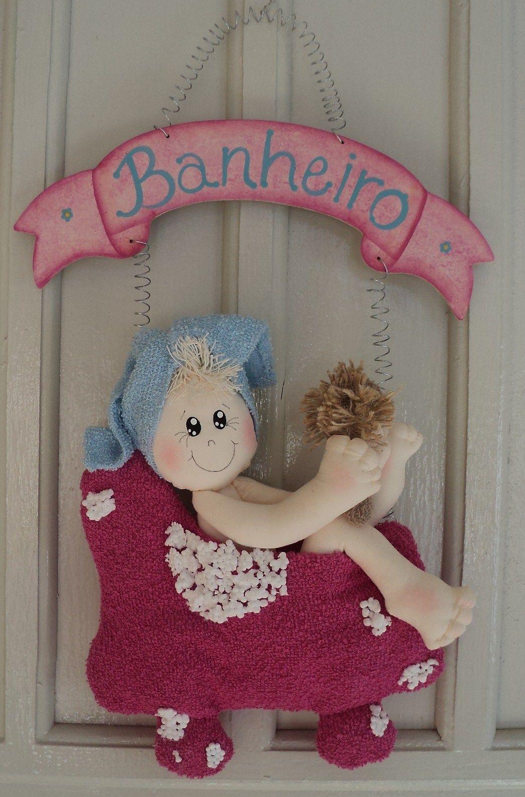 Casal de bonecos para por em porta banheiro com moldes for Porta kleenex feltro
