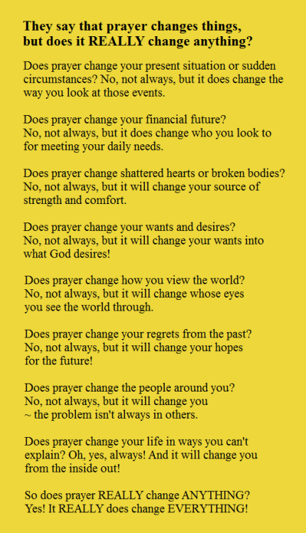 Daughter of the King Prayer changes things, Catholic