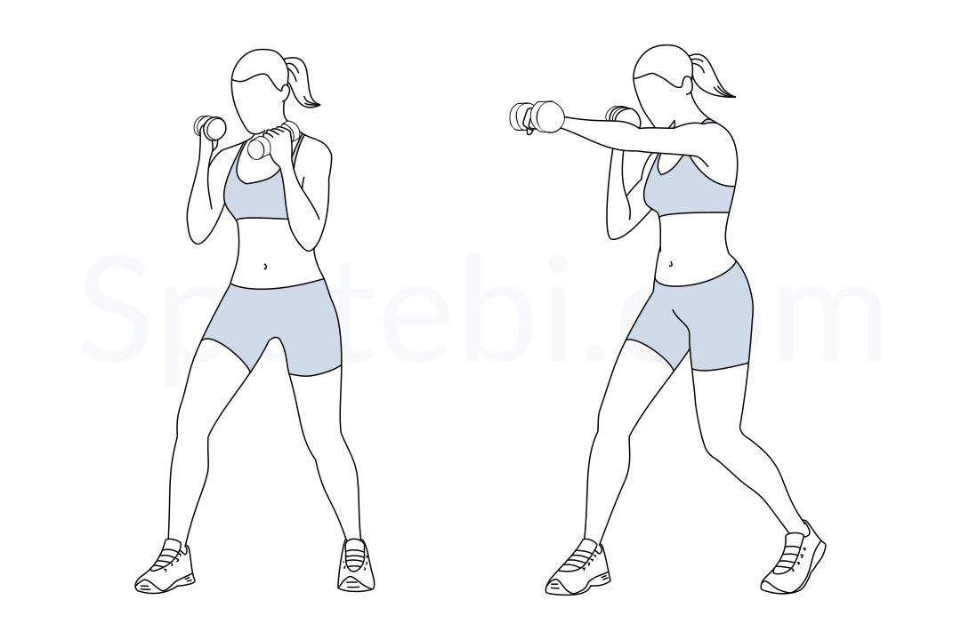 dumbbell punches