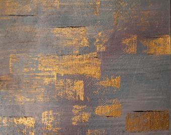 """Abstracto: pintura acrílico y geotextil.Titulo """" Nilo """". 50 x 40 cm"""