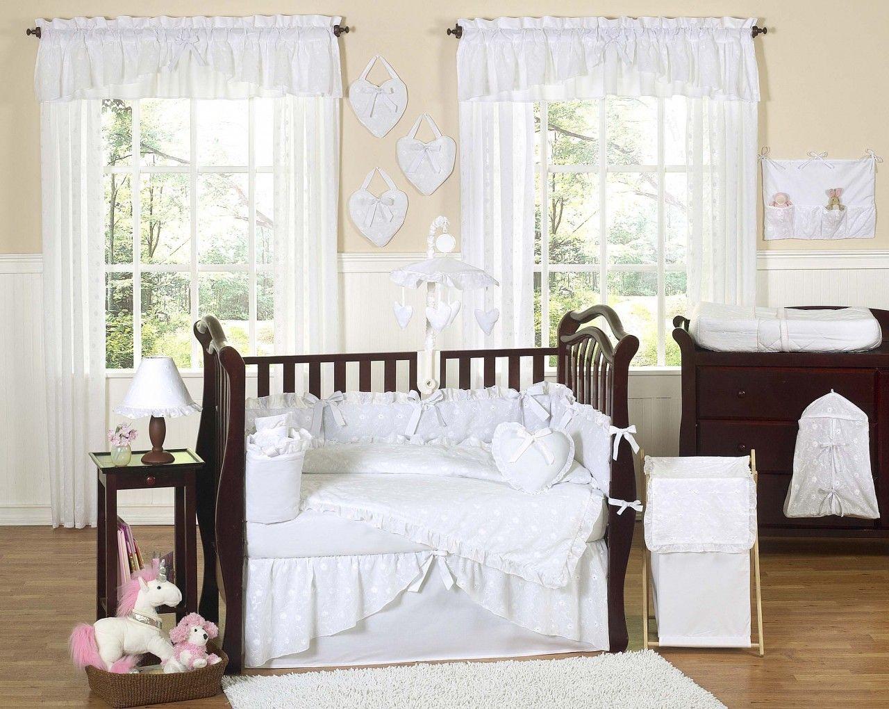 Eyelet White Crib Bedding By Sweet Jojo Designs White Crib Bedding White Baby Bedding Baby Bedding Sets