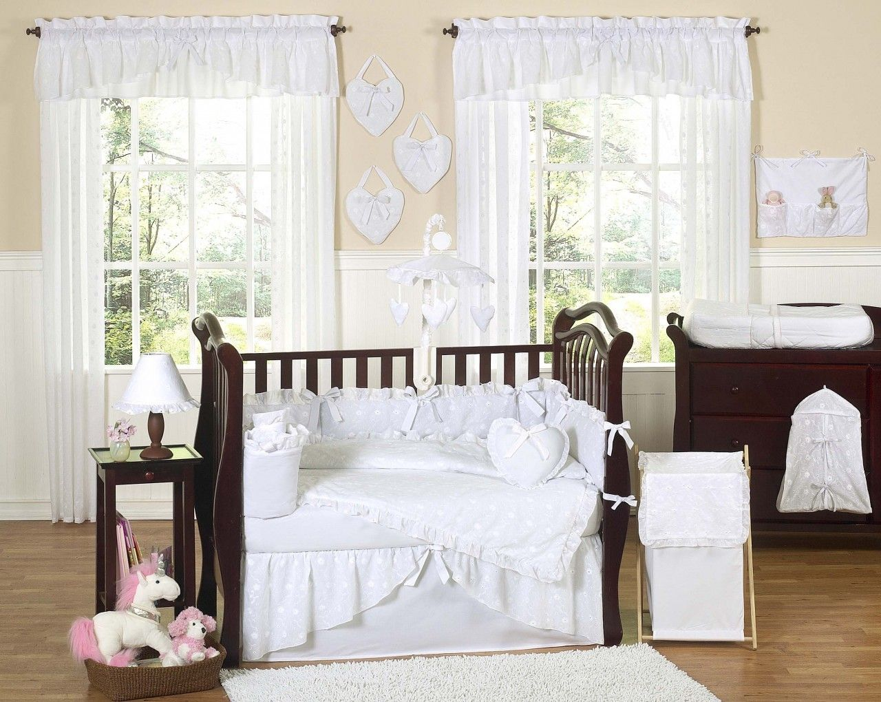 Eyelet White Crib Bedding By Sweet Jojo Designs White Baby