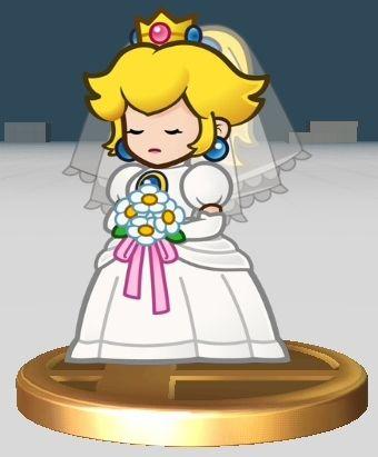 Princess peach in wedding gown mario ideas pinterest for Princess peach wedding dress