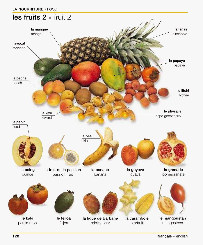 Top les fruits | Anglais vocabulaire | Pinterest | Fle, Vocabulaire et  IH83