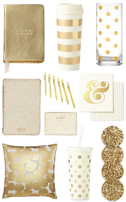 Gold Office Accessories Bright And Beautiful Chicago Fashion Lifestyle Blog Gold Office Accessories Gold Office Office Accessories