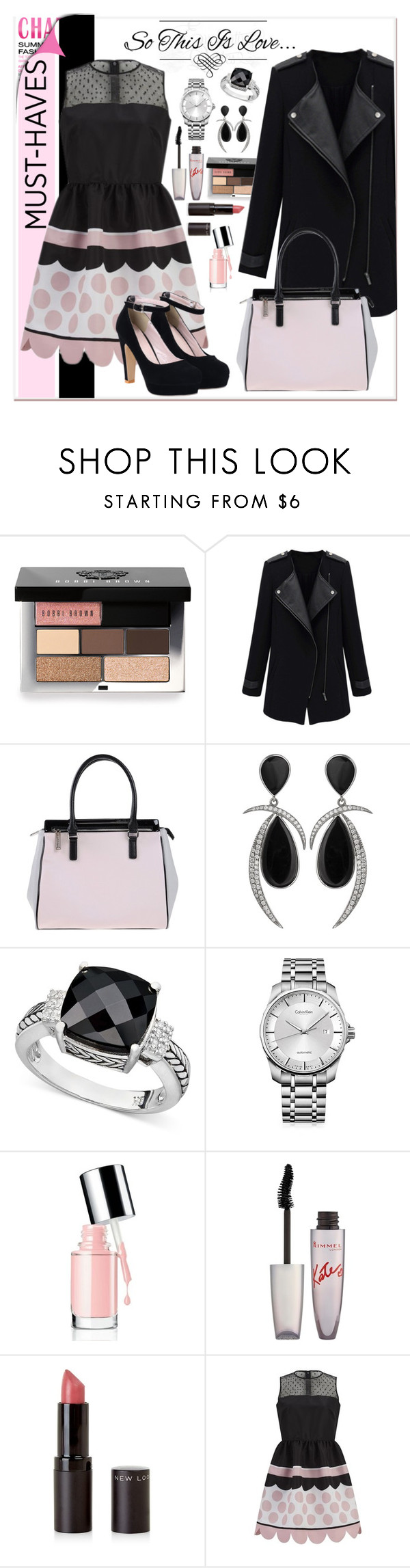 """""""must have"""" by ina-kis ❤ liked on Polyvore featuring Bobbi Brown Cosmetics, Versace, Jorge Adeler, Effy Jewelry, Calvin Klein, Rimmel and RED Valentino"""