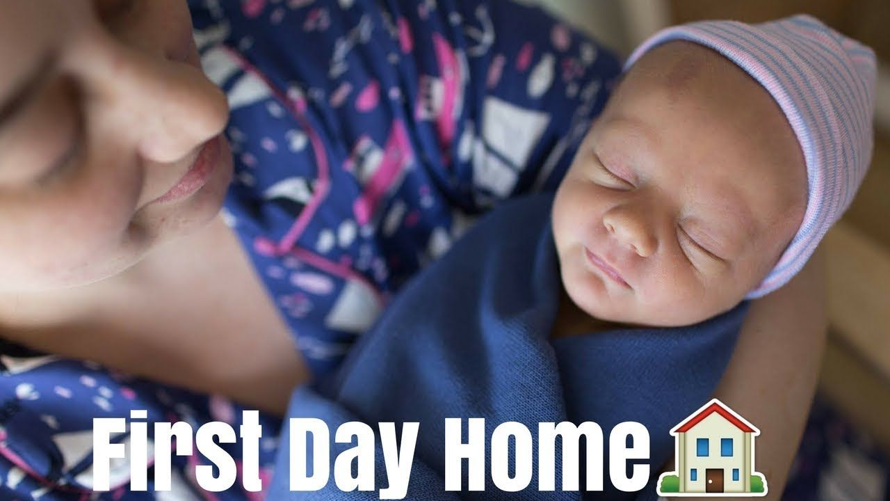 FIRST DAY AT HOME WITH NEWBORN BABY! Baby\'s First Bath at Home ...