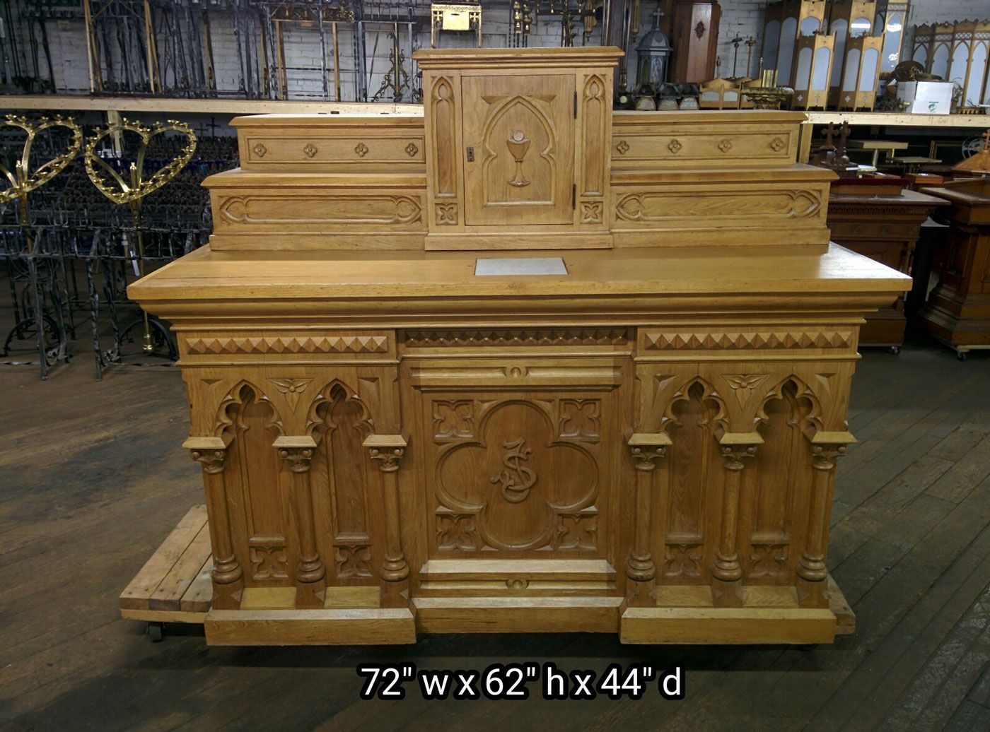 Wooden Gothic Altars for Sale | Altars - Used Church Items #churchitems