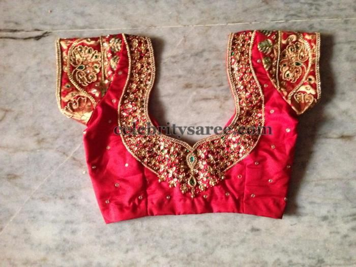 43235ccce62ade Simple Work Blouses for Silk Sarees | saree blouse | Blouse designs ...