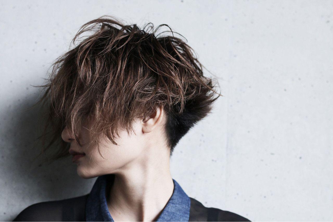 トレンチショート ヘアカット 中性的 髪型 メンズヘアカット