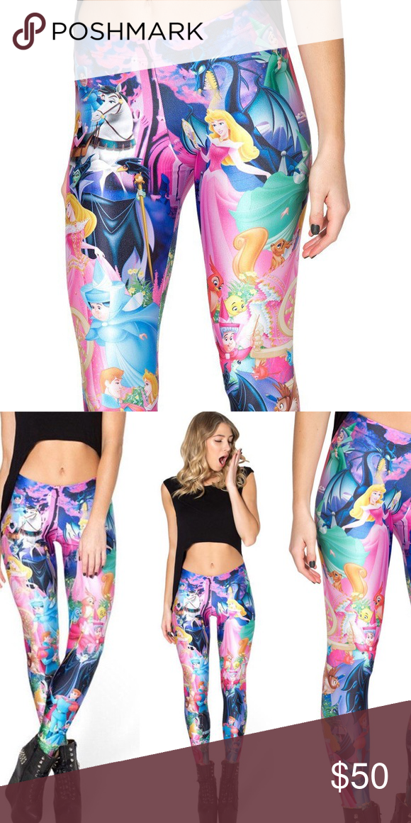 4fff86ee43344d Disney's Sleeping Beauty Aurora Printed Legging OS If you like: victoria's  secret VS, PINK, brandy melville, ASOS, H&M, spell, american apparel AA, ...