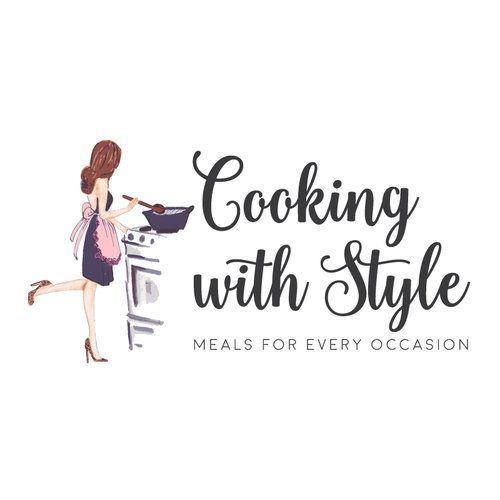 Woman Cooking Premade Logo Design
