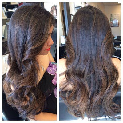 Subtle Balayage Highlights Dark Hair