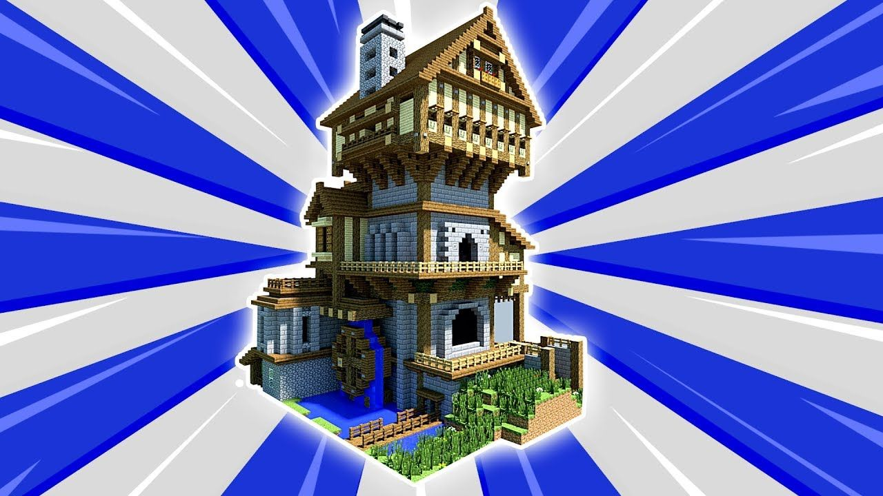 Minecraft Tutorial How To Make A Big Mansion Survival House