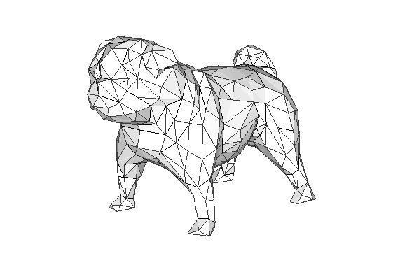 Animal Paper Model Pug Dog Free Template Download Paper Dogs