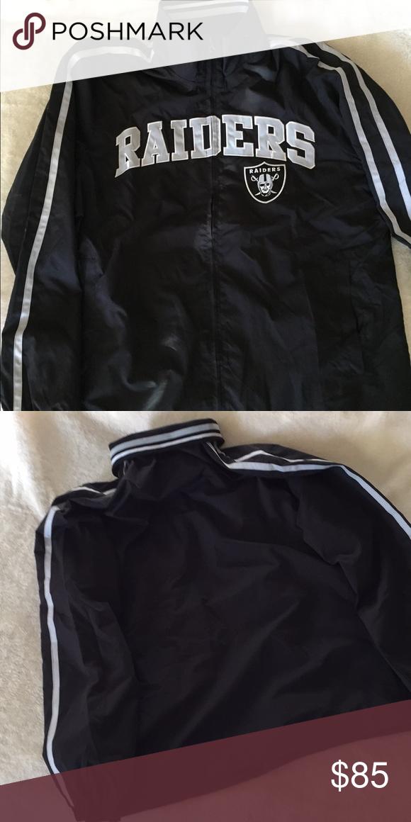 detailed look a6ae0 d700d Raiders windbreaker Raiders zipper windbreaker NFL Jackets ...