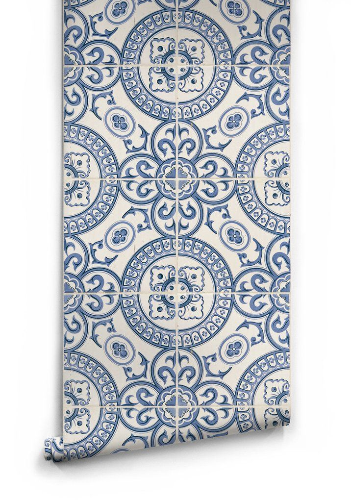 Perfect For Kitchen And Living Areas This Wallpaper Is A Spirited Faux Tile Pattern It S