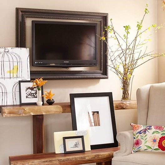 95 Ways to Hide or Decorate Around the TV, Electronics, and Cords ...