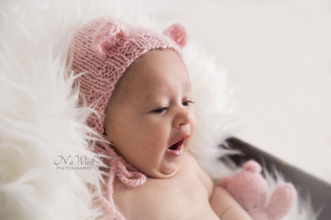 Windsor newborn photographer baby girl 3 month session