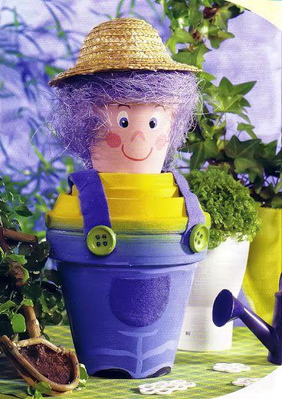 Clay flower pot crafts  #interior