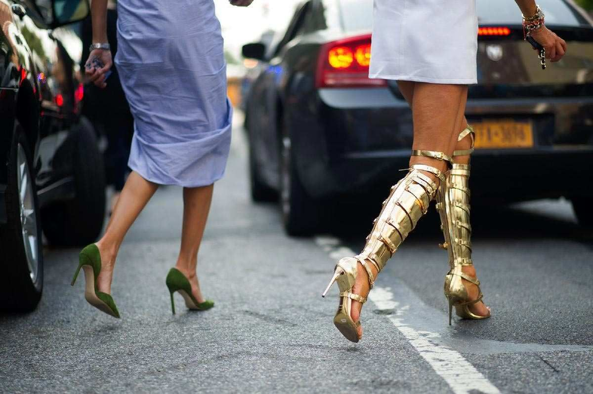 Photo 50 from Manolo Blahnik pumps (left) and Tom Ford knee-high sandals (right)