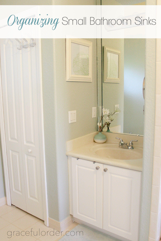 Organizing Small Bathroom Sinks - Graceful Order | Bathroom ...