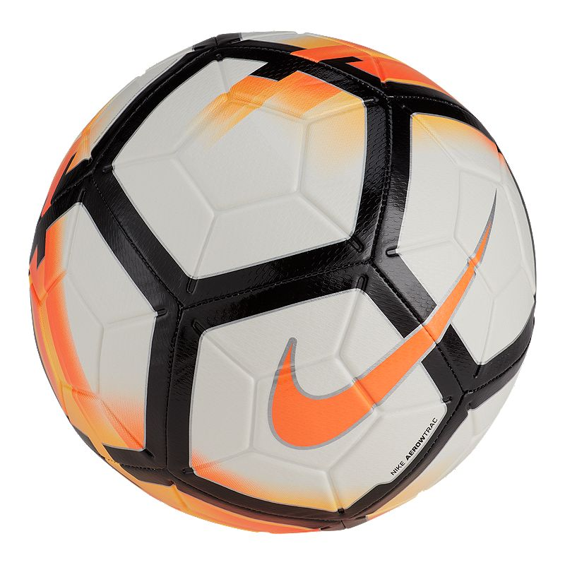 best website 902cf 3d423 Nike Strike Size 5 Soccer Ball - White Total Orange