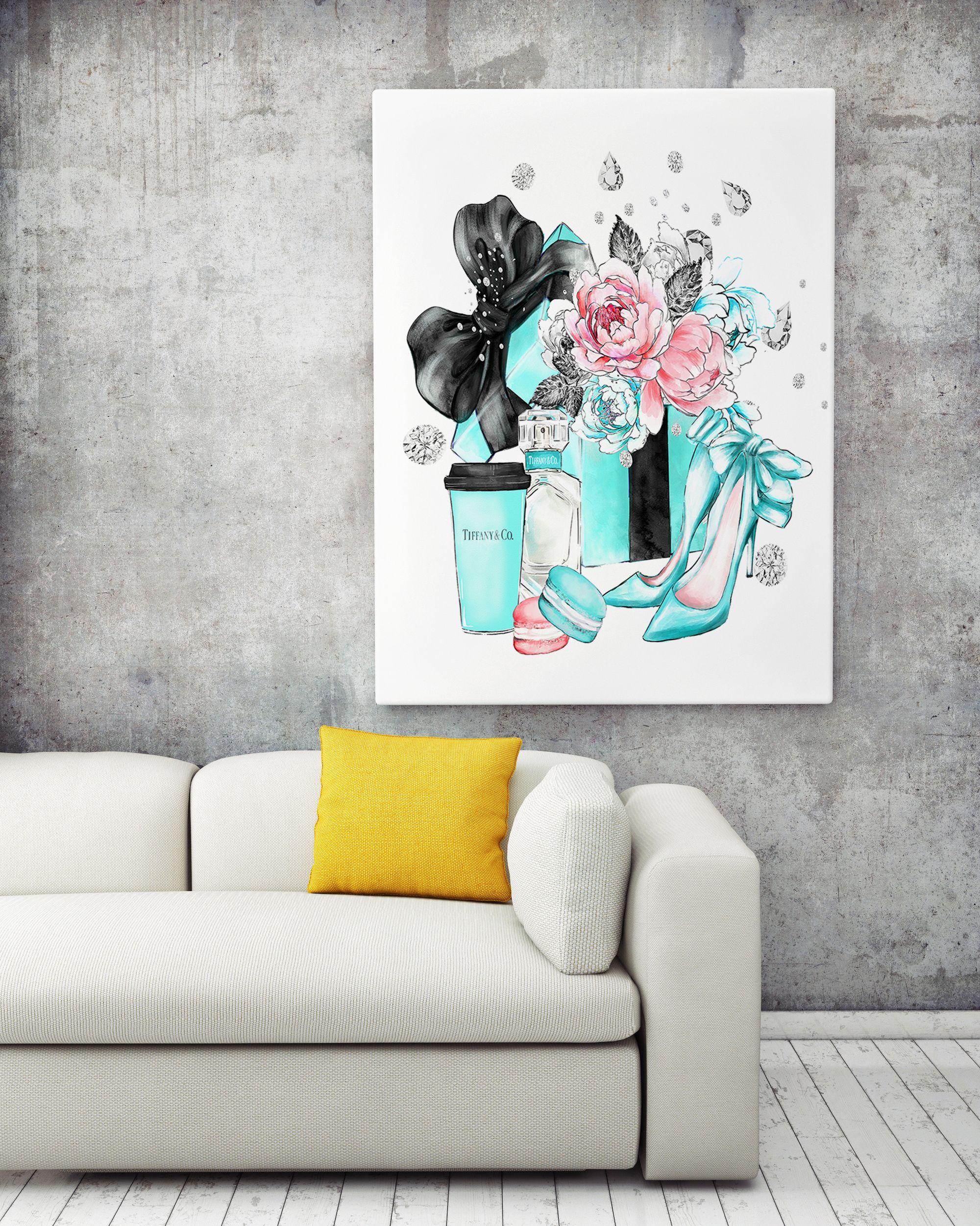 Canvas wall art chanel canvas tiffani fashion canvas wall art chanel