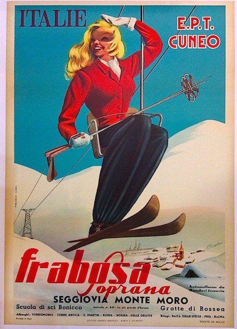 Frabosa Soprana Galleria L Image Poster Con Illustrazioni Manifesto Pubblicitario Vecchie Pubblicita