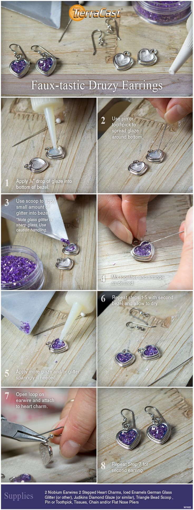 Glitter earrings diy and giveaway with images diy