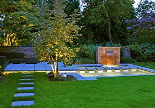 Water Garden Design outdoor patio lounge above water garden design - a new concept of