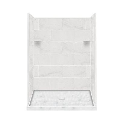 Transolid Alcove 7 Piece 36 X 60 X 75 Solid Surface Shower Wall