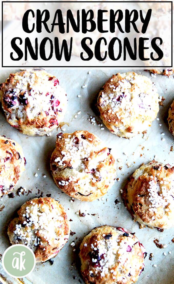 Cranberry Snow Scones
