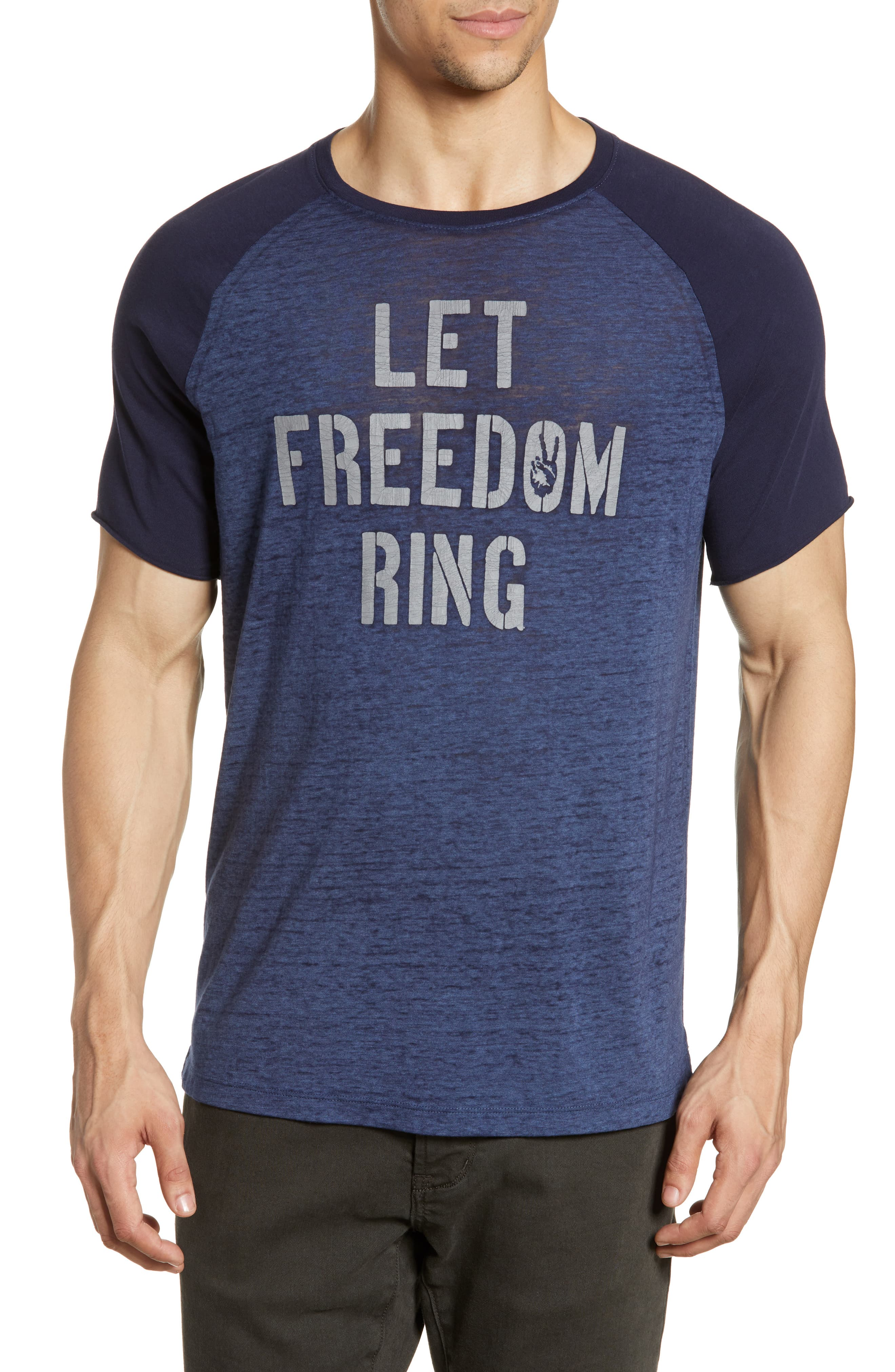 b1326c857 Men's John Varvatos Star Usa Let Freedom Ring Graphic T-Shirt, Size Large -