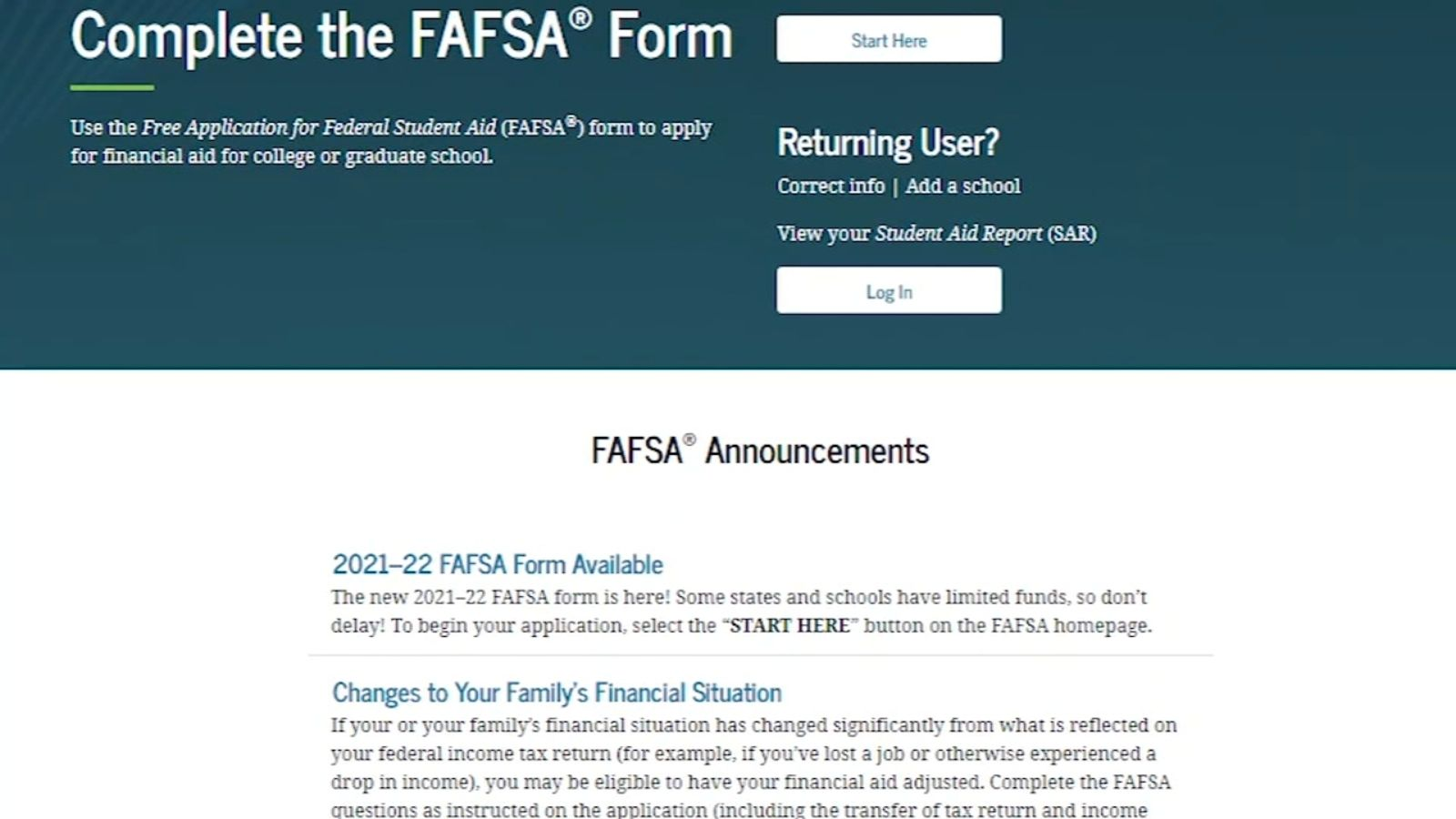 Financial Aid Why Experts Say College Students Should Fill Out The Fafsa Immediately Ktrk Tv Fafsa Financial Aid For College College Finance