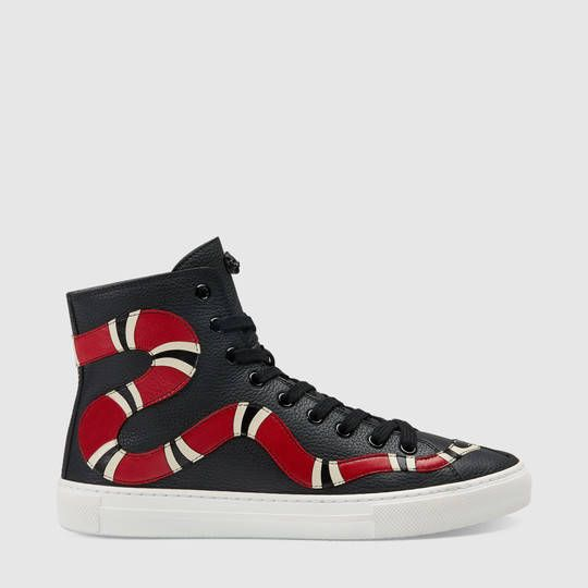 2d7d07281a Gucci Leather Kingsnake high-top sneaker | Products I Love in 2019 ...