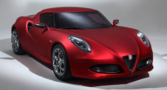 the alfa romeo 4c is a small, lightweight rear wheel drive two