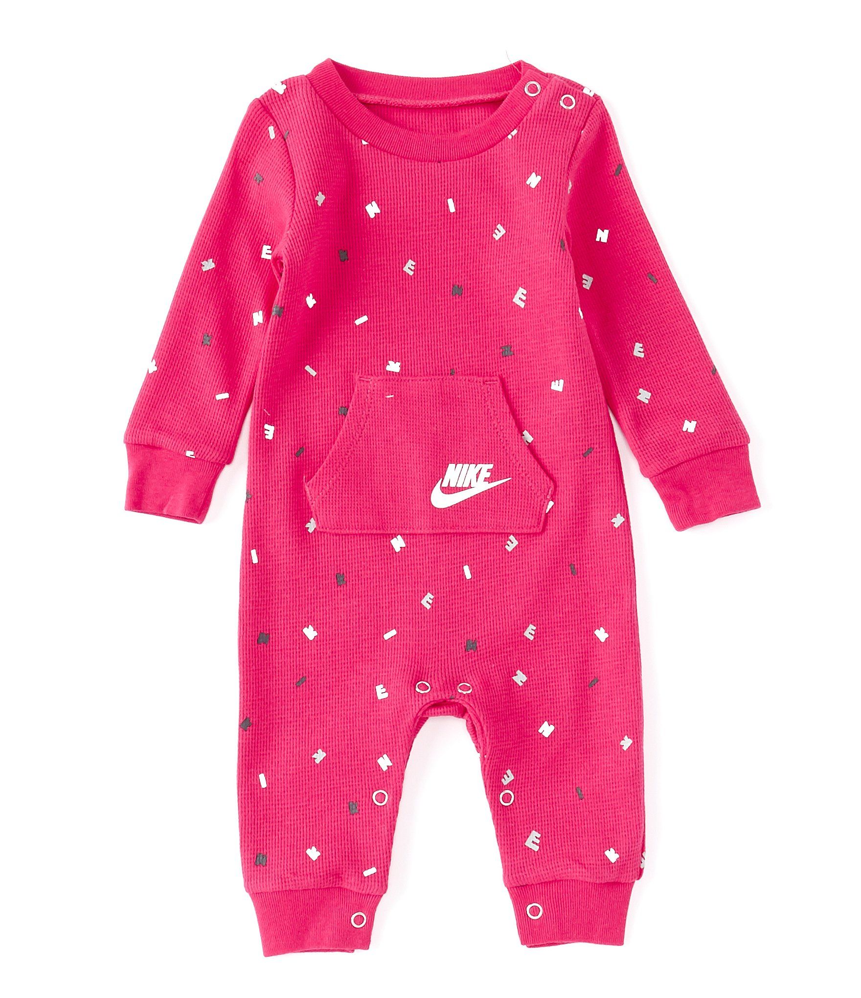 Nike Baby Girls Newborn 9 Months Graphic Waffle Thermal Long