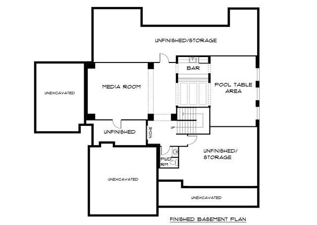 Depaul Lewis Center Floor Plan: Compass Homes BIA Parade Basement Floor Plan From The BIA