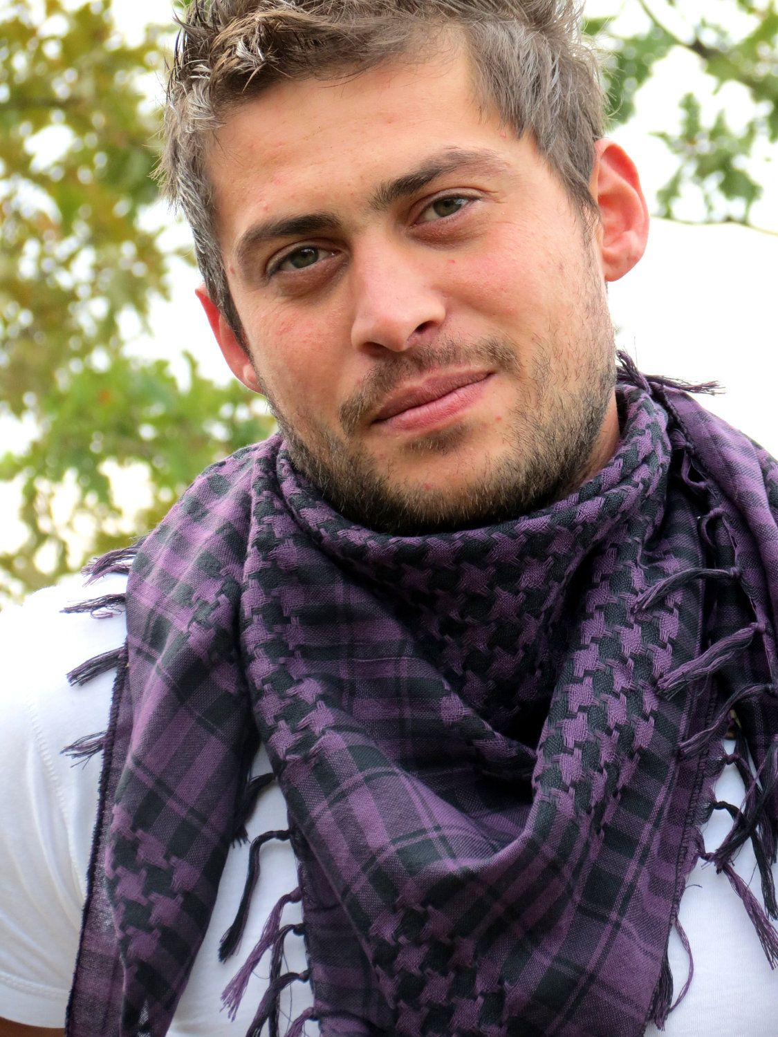 Men Scarf checkered pattern