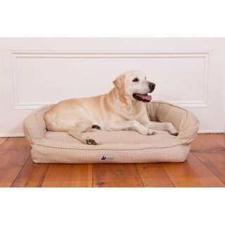 3 Dog Pet Supply Ez Wash Premium Headrest Memory Foam Dog Bed Hemp Large Brown Dog Bed Orthopedic Dog Bed Pet Dogs