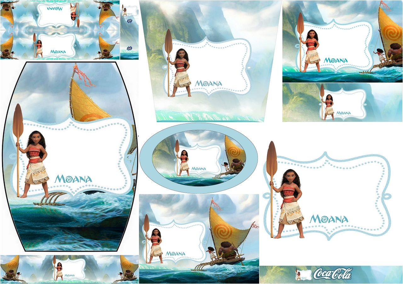 Moana Free Printable Candy Bar Labels Anniversaire