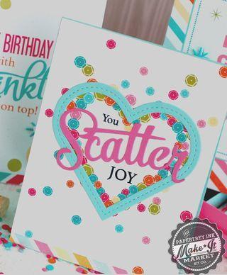 You Scatter Joy Card by Betsy Veldman for Papertrey Ink (April 2014)