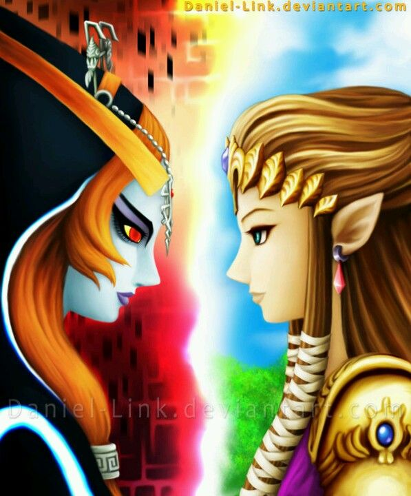 Princess Zelda and Princess Midna by Daniel-Link on deviantART