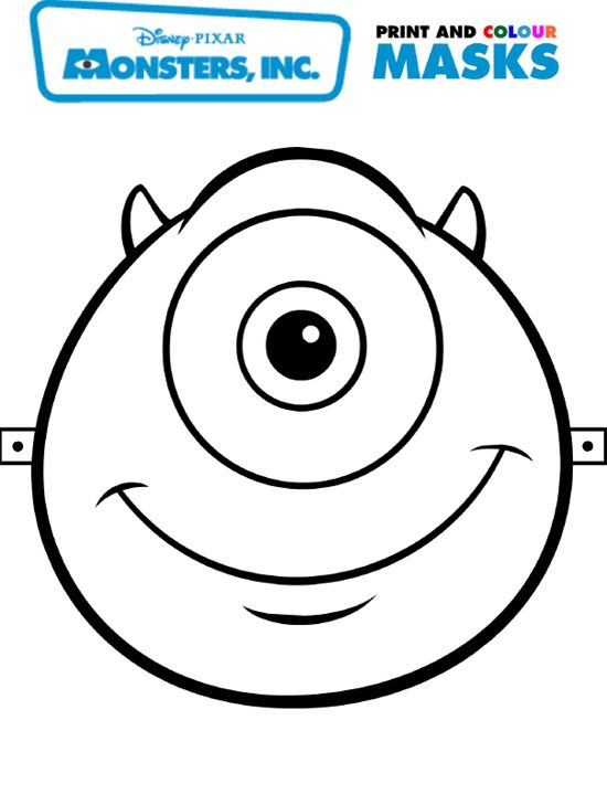 mike mask to color | Hayleys 4th bday party in 2018 | Pinterest ...