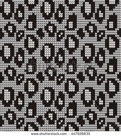 Seamless knitted pattern skin wild animals | Fair Isle strik ...